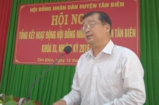 HĐND huyện Tân Biên tổng kết nhiệm kỳ 2016-2021