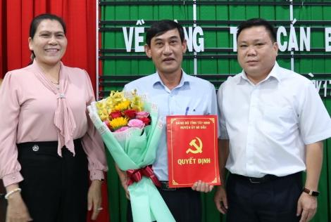 Ông Nguyễn Thanh Hải- Trưởng Phòng Kinh tế- Hạ tầng làm Bí thư Đảng ủy xã Cẩm Giang