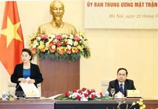 Tăng cường phối hợp giữa UBTVQH và Đoàn Chủ tịch Ủy ban MTTQ
