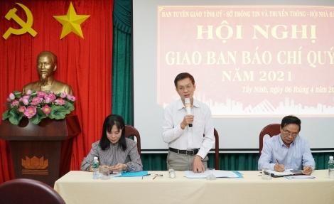 Hội nghị giao ban báo chí quý I.2021: Tập trung tuyên truyền cuộc bầu cử