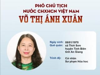 [Info] Tân Phó Chủ tịch nước Võ Thị Ánh Xuân