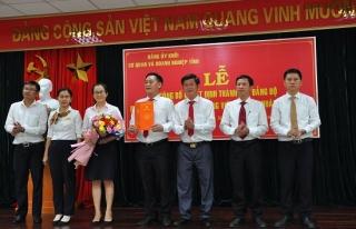 Thành lập hai Đảng bộ trực thuộc Đảng uỷ khối Cơ quan và Doanh nghiệp tỉnh