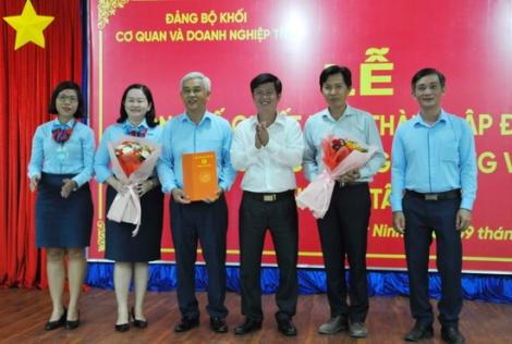 Thành lập Đảng bộ Công ty Xăng dầu Tây Ninh và Ngân hàng Thương mại Cổ phần Công thương Việt Nam chi nhánh Tây Ninh