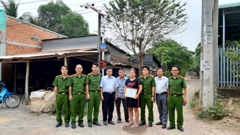Xã Tiên Thuận (Bến Cầu): Vận động xã hội hóa lắp đặt 2 cụm camera an ninh