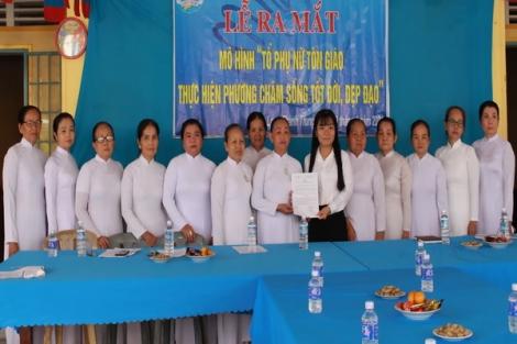 Phường Long Thành Trung: Ra mắt Tổ phụ nữ tôn giáo sống tốt đời, đẹp đạo