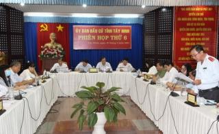 Ủy ban Bầu cử tỉnh họp phiên thứ 6: Việc rà soát danh sách cử tri phải chính xác