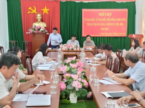 Thị xã Trảng Bàng đảm bảo tiến độ công tác chuẩn bị bầu cử