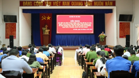 Gò Dầu sơ kết 5 năm thực hiện Chỉ thị 05 của Bộ Chính trị