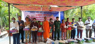 Tết Chol Chnam Thmay của dân tộc Khmer tại ấp Hòa Đông A