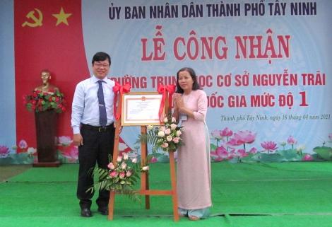Trường THCS Nguyễn Trãi, Thành phố được công nhận trường đạt chuẩn Quốc gia mức độ 1