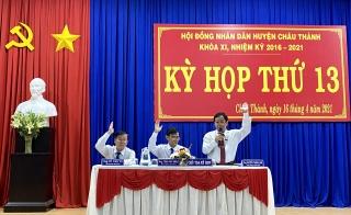 HĐND huyện Châu Thành: Tổ chức kỳ họp thứ 13