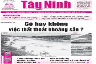 Điểm báo in Tây Ninh ngày 19.04.2021