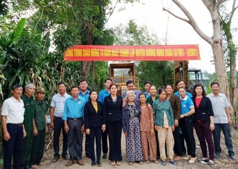 Xã Phước Minh khởi công công trình chào mừng kỷ niệm 70 năm thành lập huyện Dương Minh Châu
