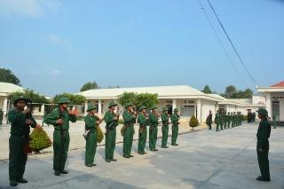 Bộ CHQS tỉnh: Kiểm tra công tác huấn luyện chiến sĩ mới tại Trung đoàn 174