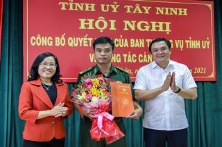 Tỉnh ủy Tây Ninh công bố Quyết định về công tác cán bộ tại Tân Châu