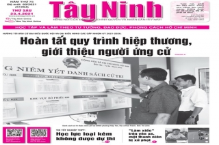 Điểm báo in Tây Ninh ngày 23.04.2021