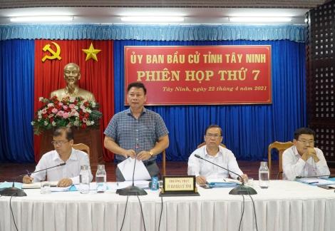 Uỷ ban bầu cử tỉnh họp phiên thứ 7: Công tác chuẩn bị bầu cử đúng tiến độ
