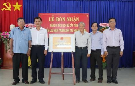 """""""Địa điểm lưu niệm Trường nội trú Hoàng Lê Kha"""" được công nhận di tích lịch sử cấp tỉnh"""