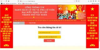 Cử tri thành phố Tây Ninh có thể tra cứu thông tin cử tri tại nhà bằng điện thoại thông minh