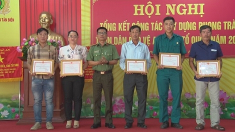 Tân Biên: Tổng kết phong trào TDBVANTQ năm 2020