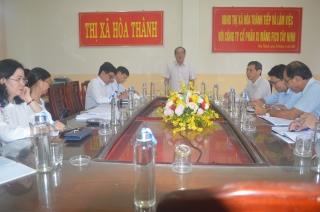 Uỷ ban Bầu cử thị xã Hoà Thành họp phiên đột xuất