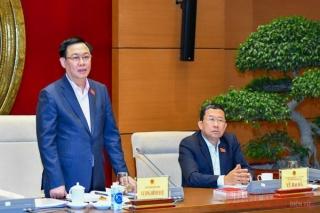 Chủ tịch Quốc hội Vương Đình Huệ làm việc với Thường trực Ủy ban Đối ngoại của Quốc hội