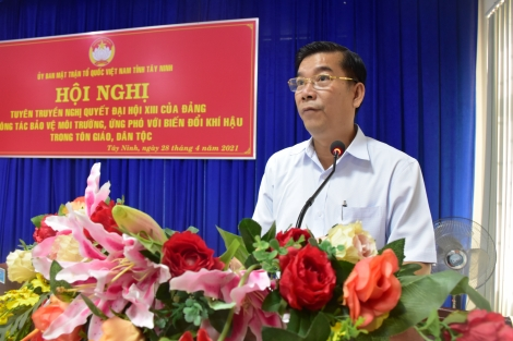 Ủy ban MTTQ Việt Nam tỉnh: Tuyên truyền, phổ biến Nghị quyết Đại hội XIII của Đảng trong tôn giáo, dân tộc