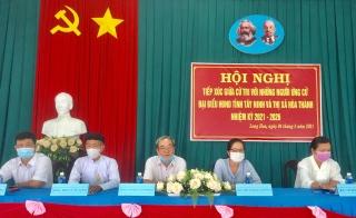 Ứng cử viên đại biểu HĐND thị xã Hoà Thành tiếp xúc cử tri phường Long Hoa