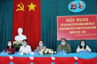Tổ chức hội nghị tiếp xúc giữa cử tri với các ứng cử viên đại biểu HĐND tỉnh, thị xã