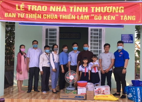 Hội Bảo trợ người khuyết tật và Bảo vệ quyền trẻ em tỉnh: Trao nhà tình thương tại xã Tân Lập huyện Tân Biên