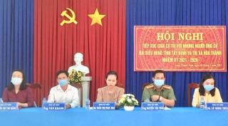 Ứng cử viên đại biểu HĐND tỉnh tiếp xúc cử tri xã Long Thành Nam, thị xã Hòa Thành