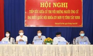 Thành phố Tây Ninh: Tiếp xúc cử tri với người ứng cử đại biểu Quốc hội khoá XV