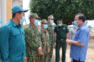 Phó Bí thư Thường trực Tỉnh ủy Phạm Hùng Thái: Thăm, tặng quà các cán bộ, chiến sĩ biên phòng trên địa bàn Trảng Bàng và Bến Cầu