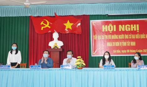 Các ứng cử viên Đại biểu Quốc hội Khóa XV tiếp xúc cử tri 2 xã Thạnh Đức, Cẩm Giang
