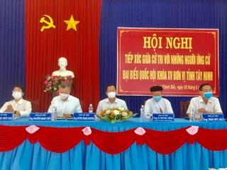 Ứng cử viên ĐBQH Đơn vị bầu cử số 2 tiếp xúc cử tri các xã, phường trên địa bàn Thị xã Hòa Thành