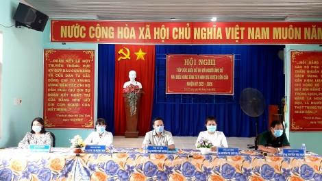 Ứng cử viên đại biểu HĐND các cấp tiếp xúc cử tri, vận động bầu cử