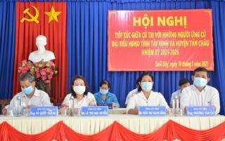 Ứng cử viên đại biểu HĐND tỉnh và huyện Tân Châu tiếp xúc cử tri tại xã Suối Dây