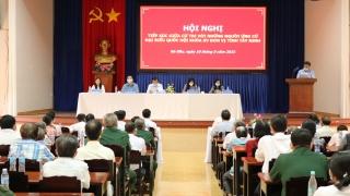 Trưởng Ban Tuyên giáo Trung ương cùng các ứng cử viên đại biểu Quốc hội khóa XV tiếp xúc cử tri huyện Gò Dầu