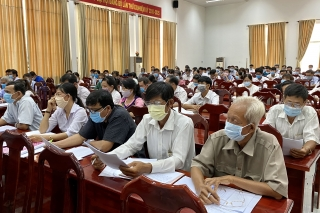 Châu Thành: Tập huấn công tác bầu cử