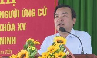Ứng cử viên ĐBQH Đơn vị bầu cử số 1 tiếp xúc hơn 100 cử tri xã an Thạnh huyện Bến Cầu
