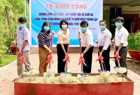 Xã Suối Đá huyện Dương Minh Châu: Nâng cấp tuyến đường giao thông nông thôn ở ấp Phước Hội