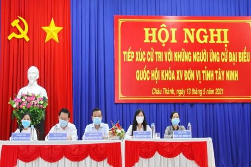 Ứng cử viên ĐBQH đơn vị số 1 tiếp xúc cử tri huyện Châu Thành