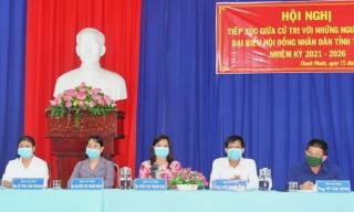 Ứng cử viên đại biểu HĐND tỉnh đơn vị bầu cử số 7 tiếp xúc cử tri xã Thanh Phước