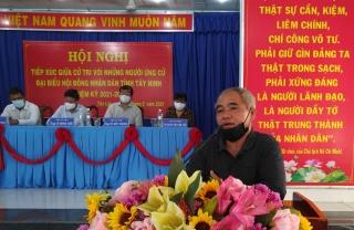 Các ứng cử viên HĐND tỉnh - đơn vị bầu cử số 16: Tiếp xúc cử tri xã Tân Lập, huyện Tân Biên