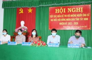 Ứng cử viên đại biểu HĐND tỉnh đơn vị bầu cử số 7: Tiếp xúc cử tri xã Phước Đông và thị trấn Gò Dầu