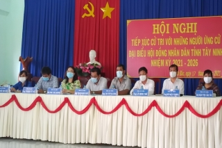 Ứng cử viên HĐND tỉnh Đơn vị bầu cử số 16: Hoàn thành chương trình tiếp xúc cử tri, vận động bầu cử với gần 1.000 cử tri huyện Tân Biên
