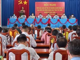 Ứng cử đại biểu HĐND tỉnh đơn vị số 16 tiếp xúc cử tri xã Tân Lập và Thạnh Bình