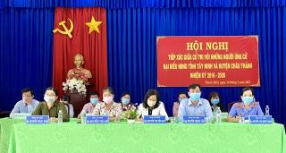 Ứng cử viên HĐND tỉnh đơn vị bầu cử số 8 tiếp xúc cử tri xã Thanh Điền và An Bình