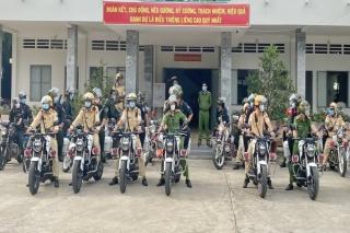 Công an huyện Tân Biên ra quân đảm bảo ANTT cho bầu cử