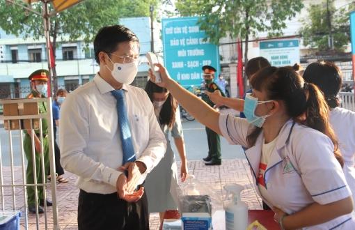 Tây Ninh thực hiện nghiêm các biện pháp phòng chống dịch trong ngày bầu cử